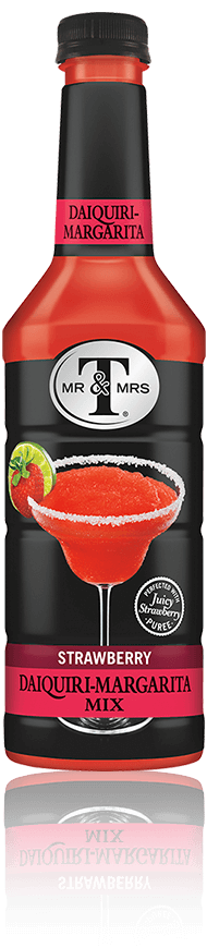 Mr & Mrs T Strawberry Daiquiri-Margarita Mix bottle